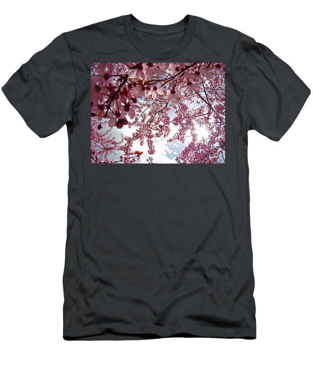 Tree Men's T-Shirt (Athletic Fit) featuring the photograph Blossom Artwork Spring Flowers Art Prints Giclee by Baslee Troutman