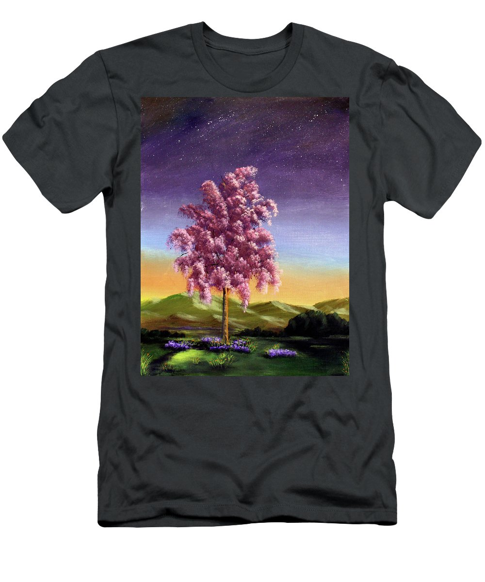 Dawn Blair Men's T-Shirt (Athletic Fit) featuring the painting Blossoming by Dawn Blair