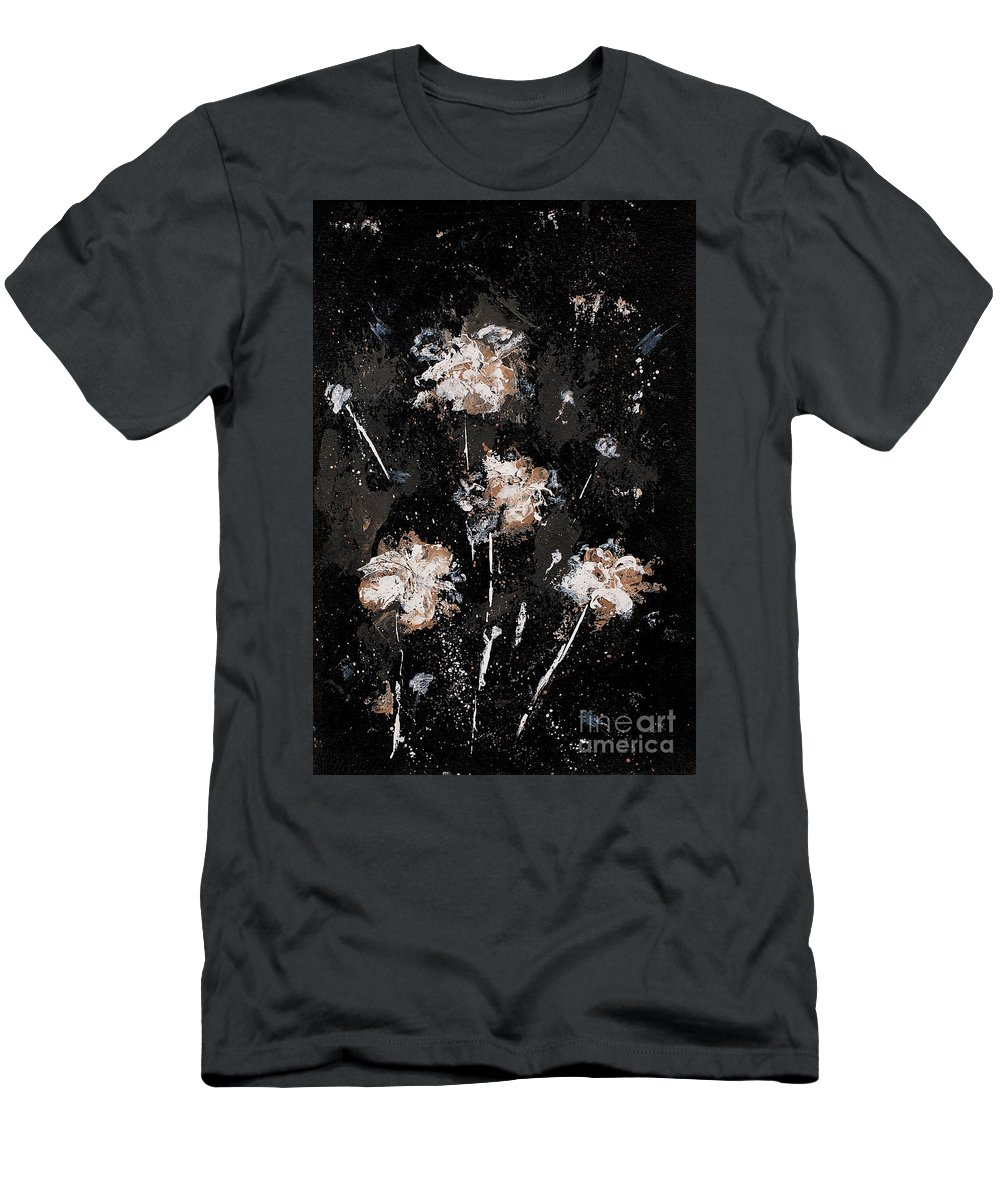 Flowers Men's T-Shirt (Athletic Fit) featuring the painting Blowing Dandelions by Angelina Cornidez