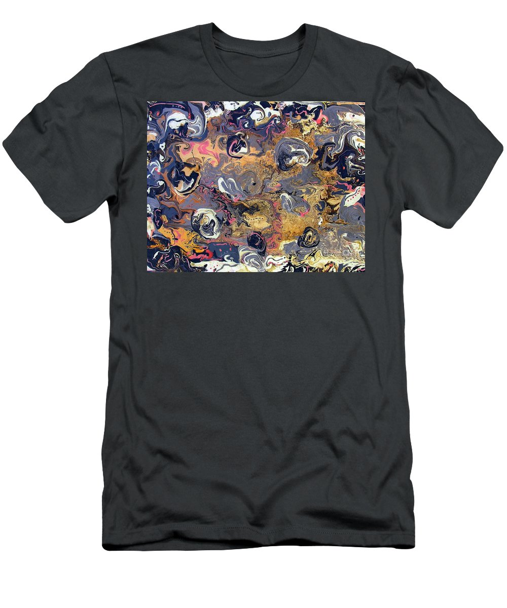 Blowing Winds Men's T-Shirt (Athletic Fit) featuring the painting Blowing Winds by Dawn Hough Sebaugh