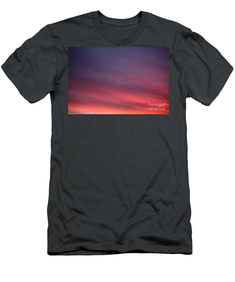 Sunset Men's T-Shirt (Athletic Fit) featuring the photograph Blue And Orange Sunset by Nadine Rippelmeyer