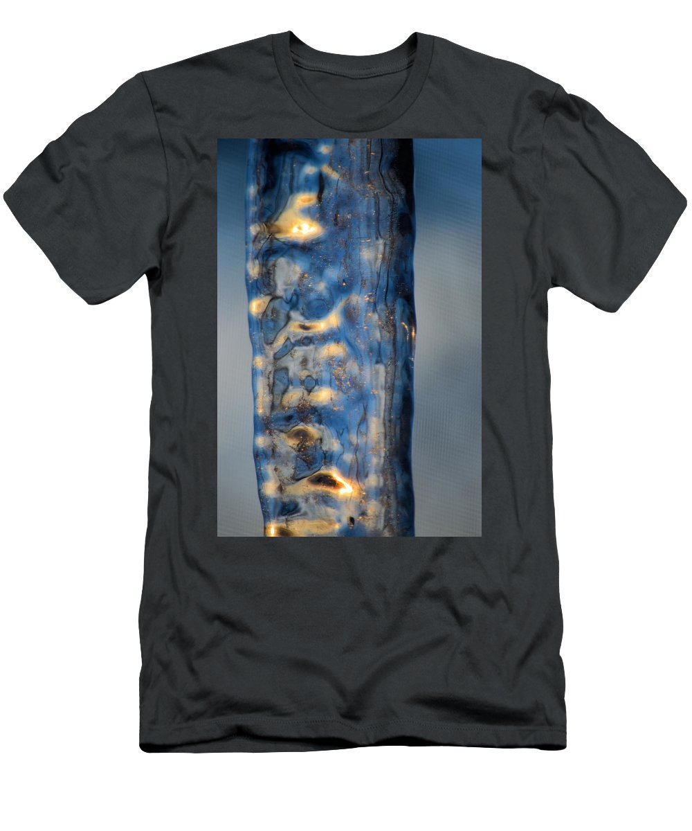 Sunrise Men's T-Shirt (Athletic Fit) featuring the photograph Blue Ice 6 by Bonfire Photography