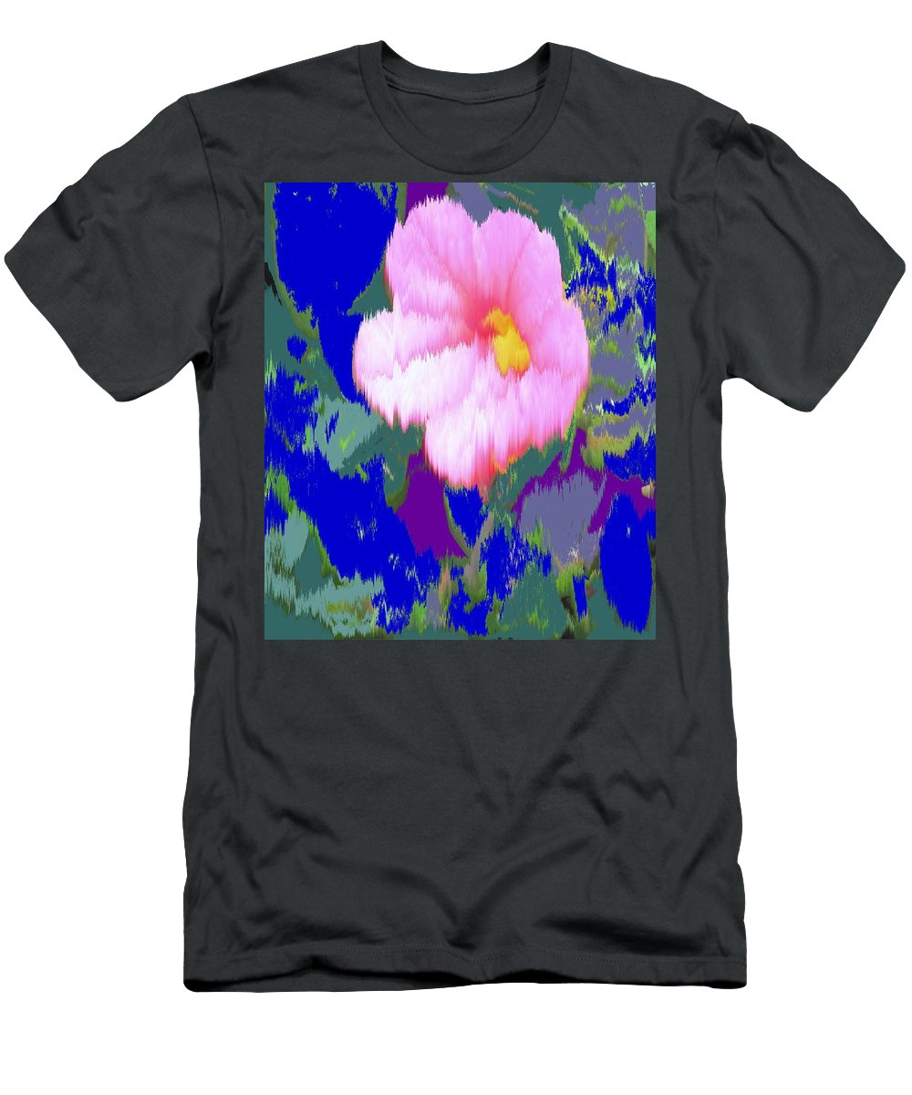 Flower Men's T-Shirt (Athletic Fit) featuring the photograph Blue Pink by Ian MacDonald