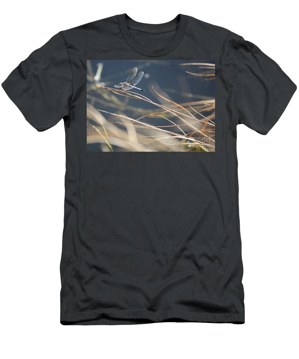 Blue Men's T-Shirt (Athletic Fit) featuring the photograph Blue Pond by Carol Groenen