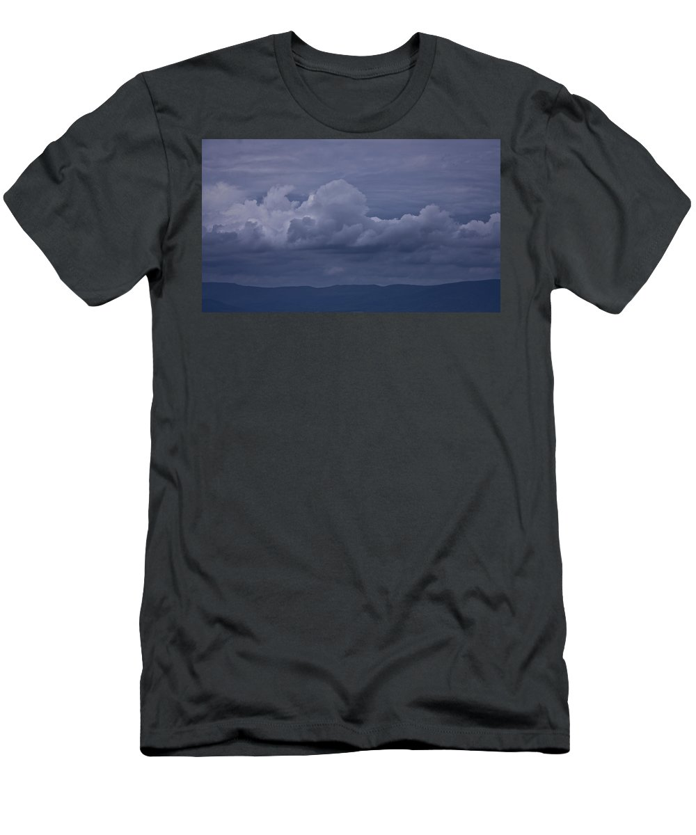 Storm Men's T-Shirt (Athletic Fit) featuring the photograph Blue Ridge Mountain Storm In Virginia by Teresa Mucha