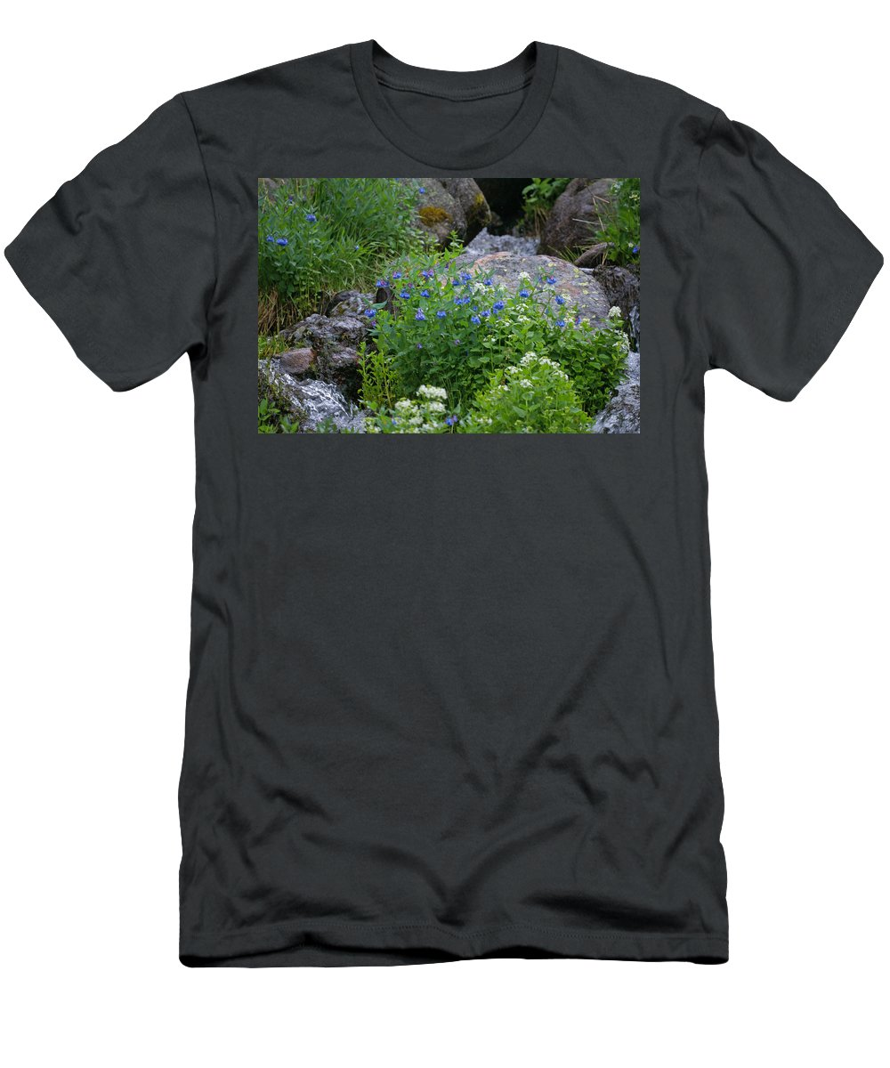 Wildflowers Men's T-Shirt (Athletic Fit) featuring the photograph Bluebells by Heather Coen