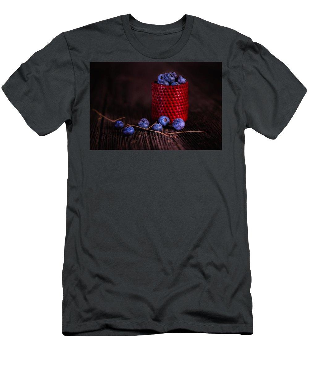 Abundance Men's T-Shirt (Athletic Fit) featuring the photograph Blueberry Delight by Tom Mc Nemar