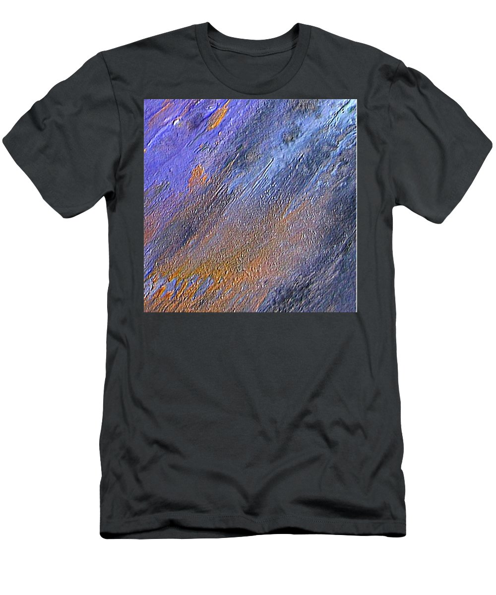 Abstract Men's T-Shirt (Athletic Fit) featuring the painting Blueness by Dragica Micki Fortuna