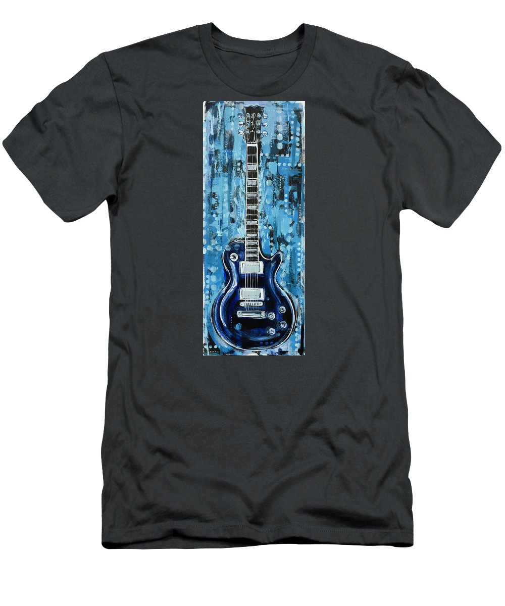 Blues Men's T-Shirt (Athletic Fit) featuring the painting Blues Guitar by John Gibbs