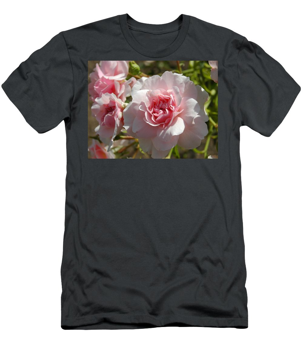 Light Pink Men's T-Shirt (Athletic Fit) featuring the photograph Blushing Beauty by Teresa Stallings