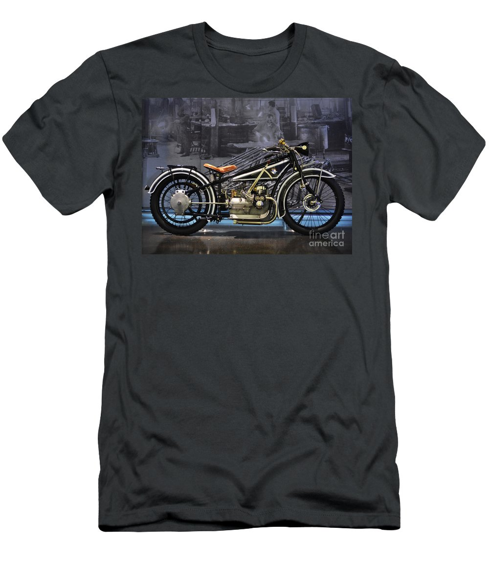 Bmw Men's T-Shirt (Athletic Fit) featuring the photograph Bmw Vintage Motorcycle by Mary Machare