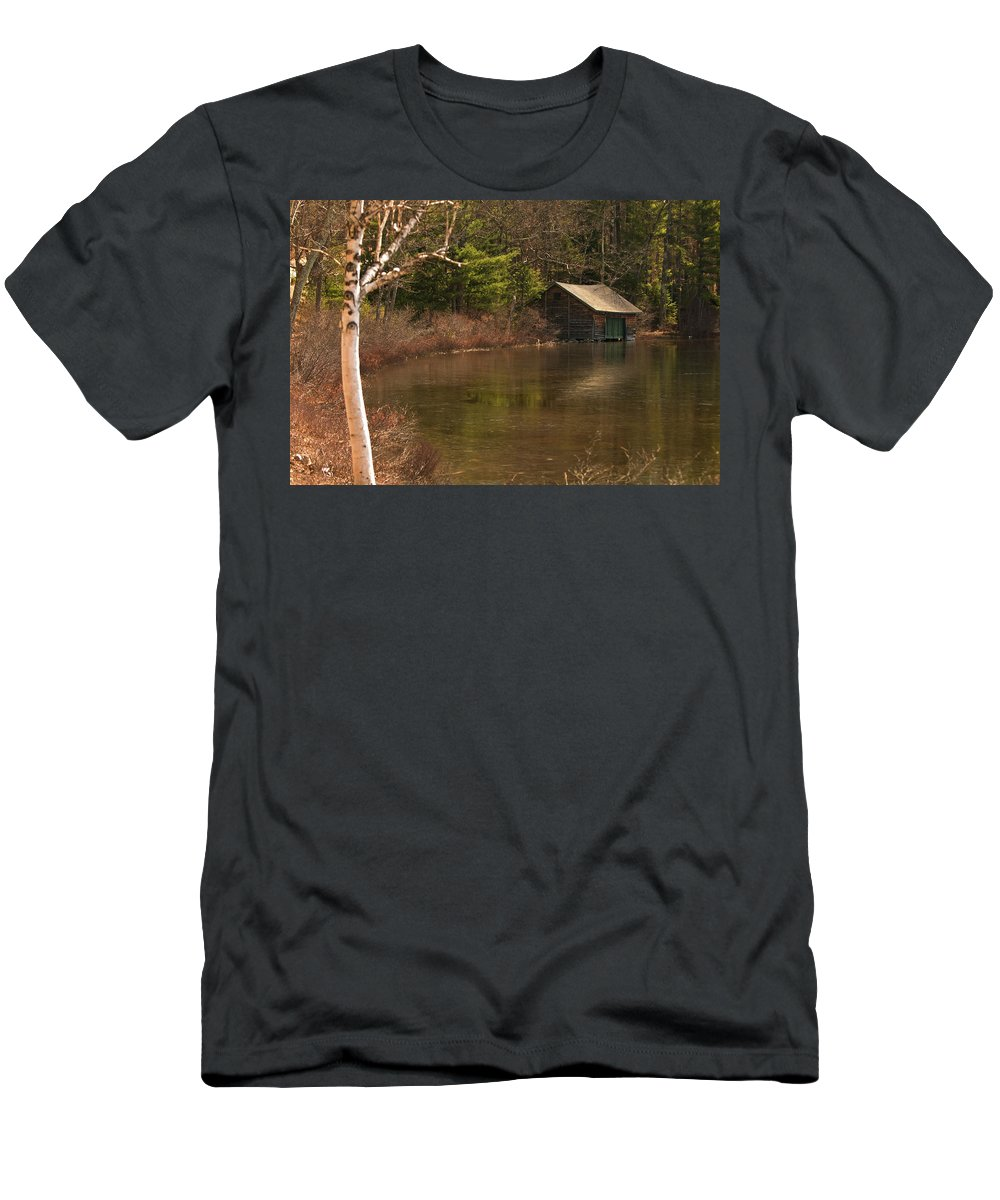 boat House Men's T-Shirt (Athletic Fit) featuring the photograph Boat House by Paul Mangold