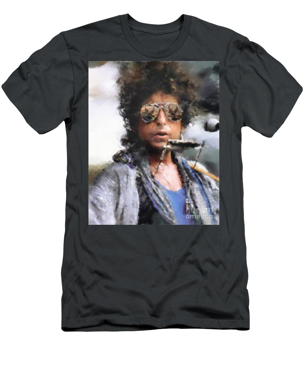 Dillon Men's T-Shirt (Athletic Fit) featuring the photograph Bob Dillon by Henry J Yasses