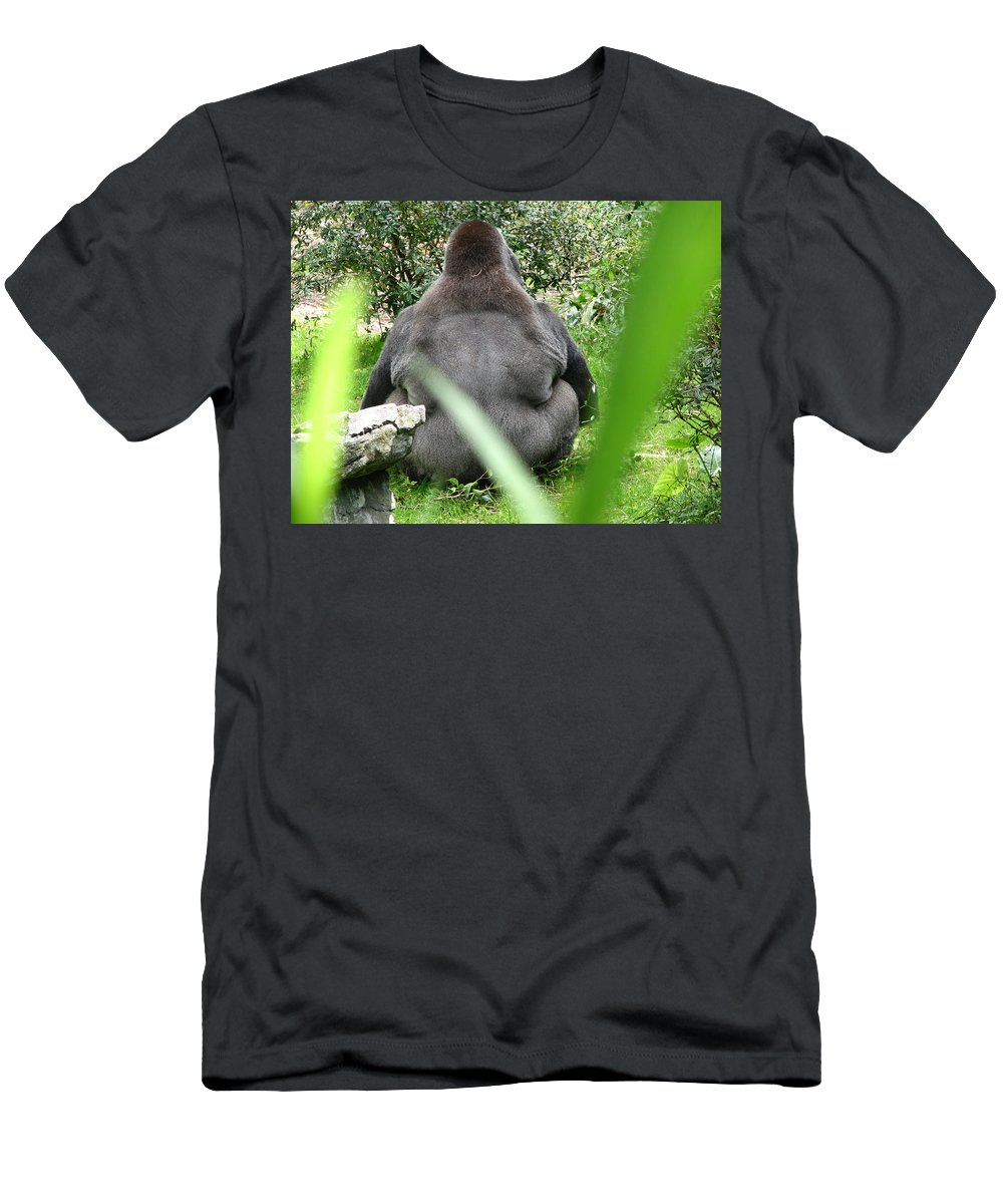 Gorilla T-Shirt featuring the photograph Body Language by Creative Solutions RipdNTorn