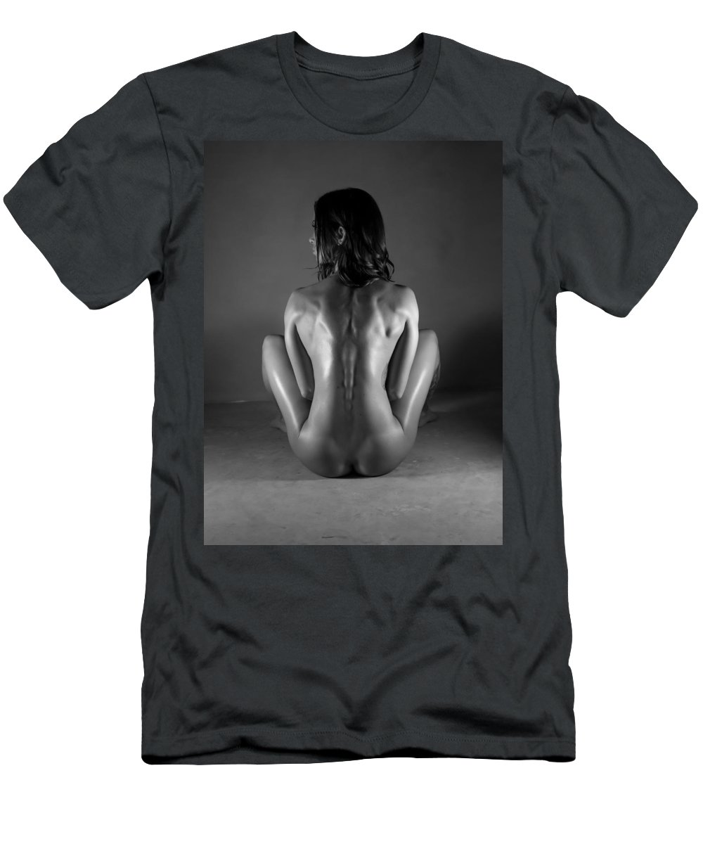 Blue Muse Fine Art Men's T-Shirt (Athletic Fit) featuring the photograph Body Of Art 20 by Blue Muse Fine Art