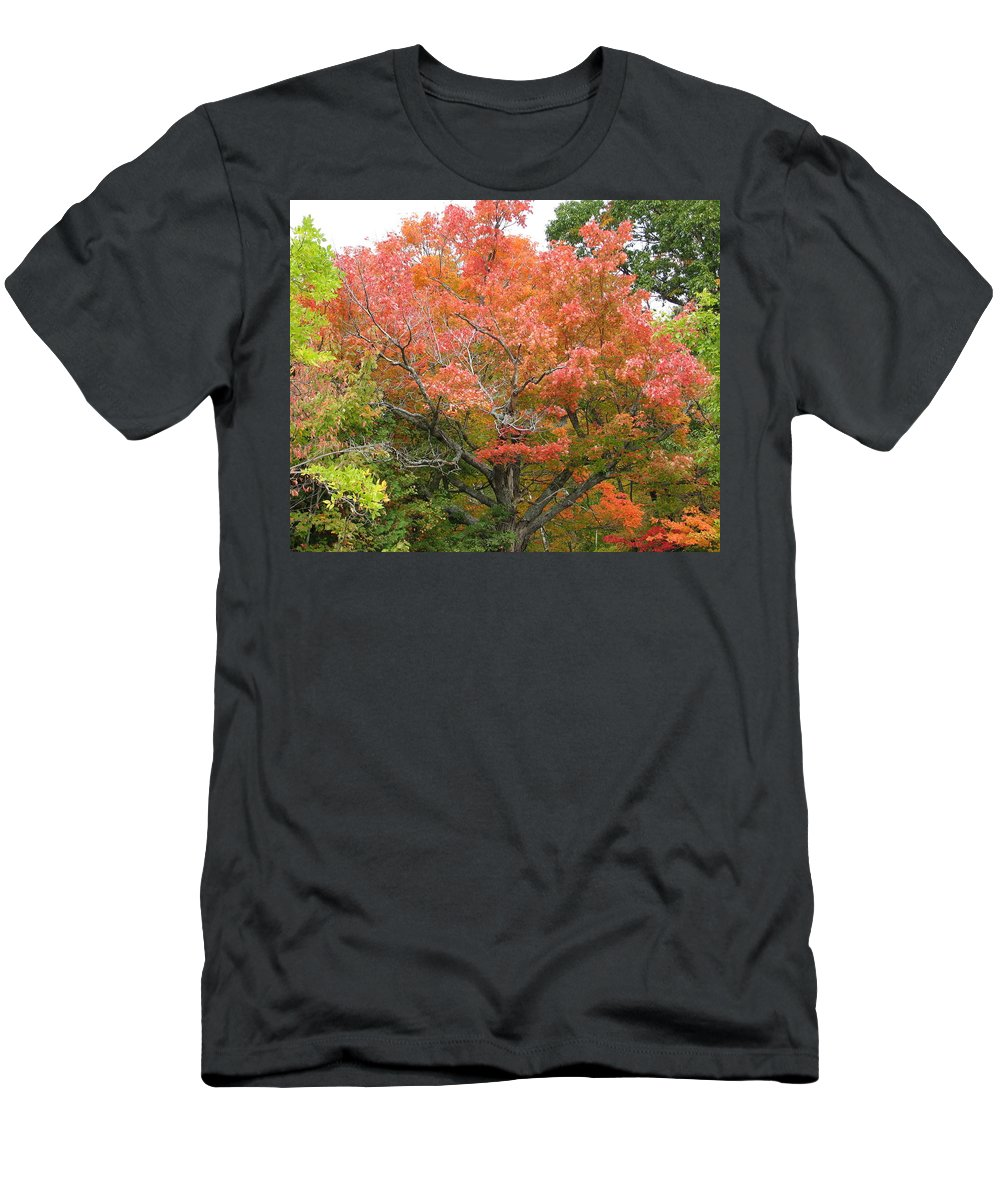 Fall Men's T-Shirt (Athletic Fit) featuring the photograph Bonfire by Kelly Mezzapelle