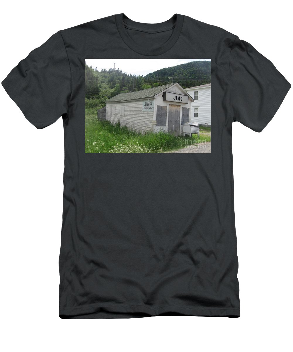 Photograph Bonne Bay Newfoundland Army Navy Store Men's T-Shirt (Athletic Fit) featuring the photograph Bonne Bay2 by Seon-Jeong Kim