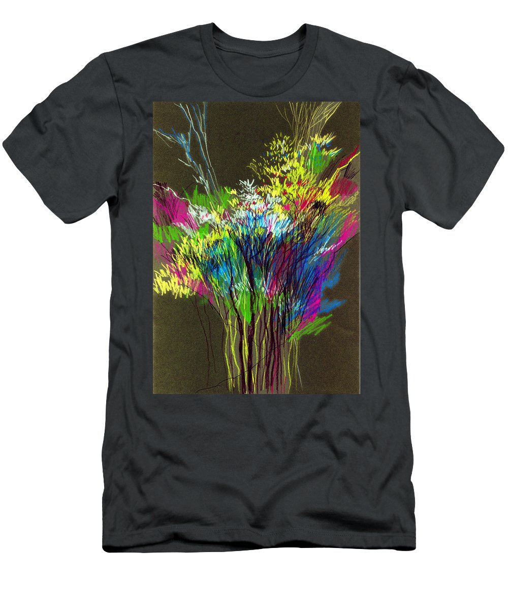 Flowers T-Shirt featuring the painting Bouquet by Anil Nene