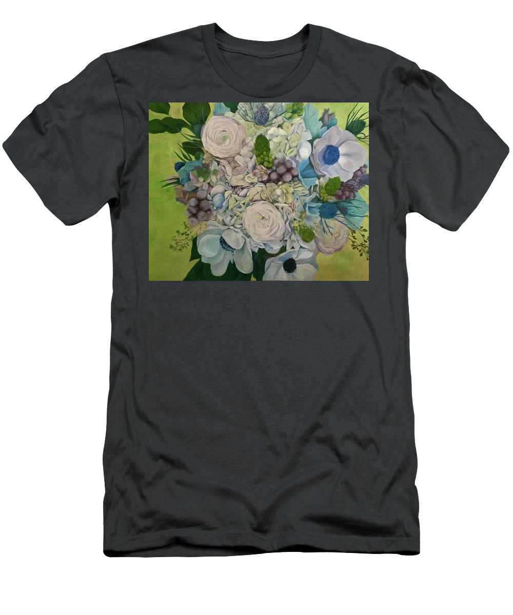 Bouquet Men's T-Shirt (Athletic Fit) featuring the painting Bouquet Of Love by Dani Altieri Marinucci