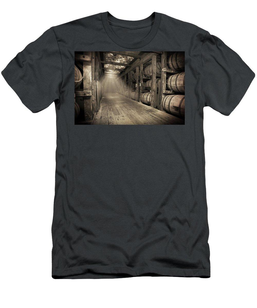 Bourbon Barrel T-Shirt featuring the photograph Bourbon Barrels by Glass Glow by Karen Varnas