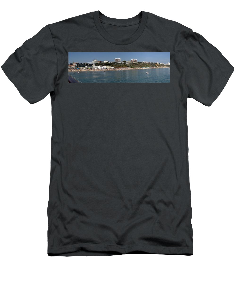Bournemouth Men's T-Shirt (Athletic Fit) featuring the photograph Bournemouth Beaches by Chris Day