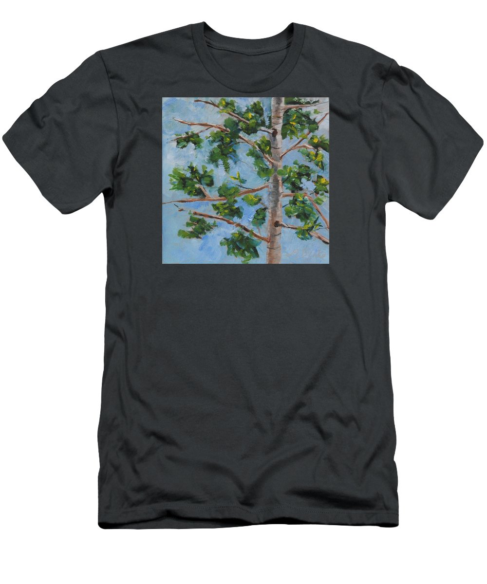 Art Men's T-Shirt (Athletic Fit) featuring the painting Branching Out by Mary Benke
