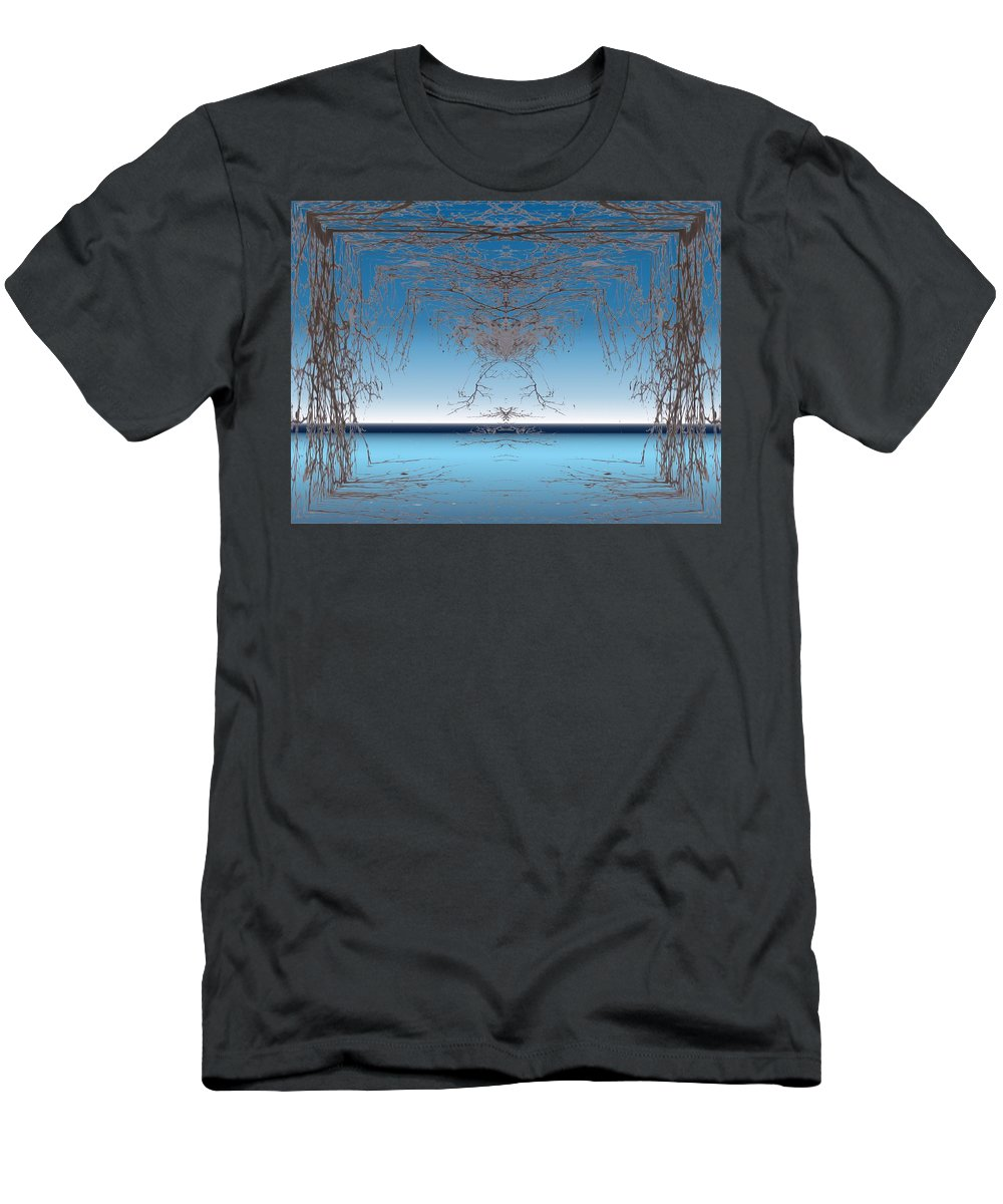 Branches Men's T-Shirt (Athletic Fit) featuring the photograph Branching Outward by Tim Allen