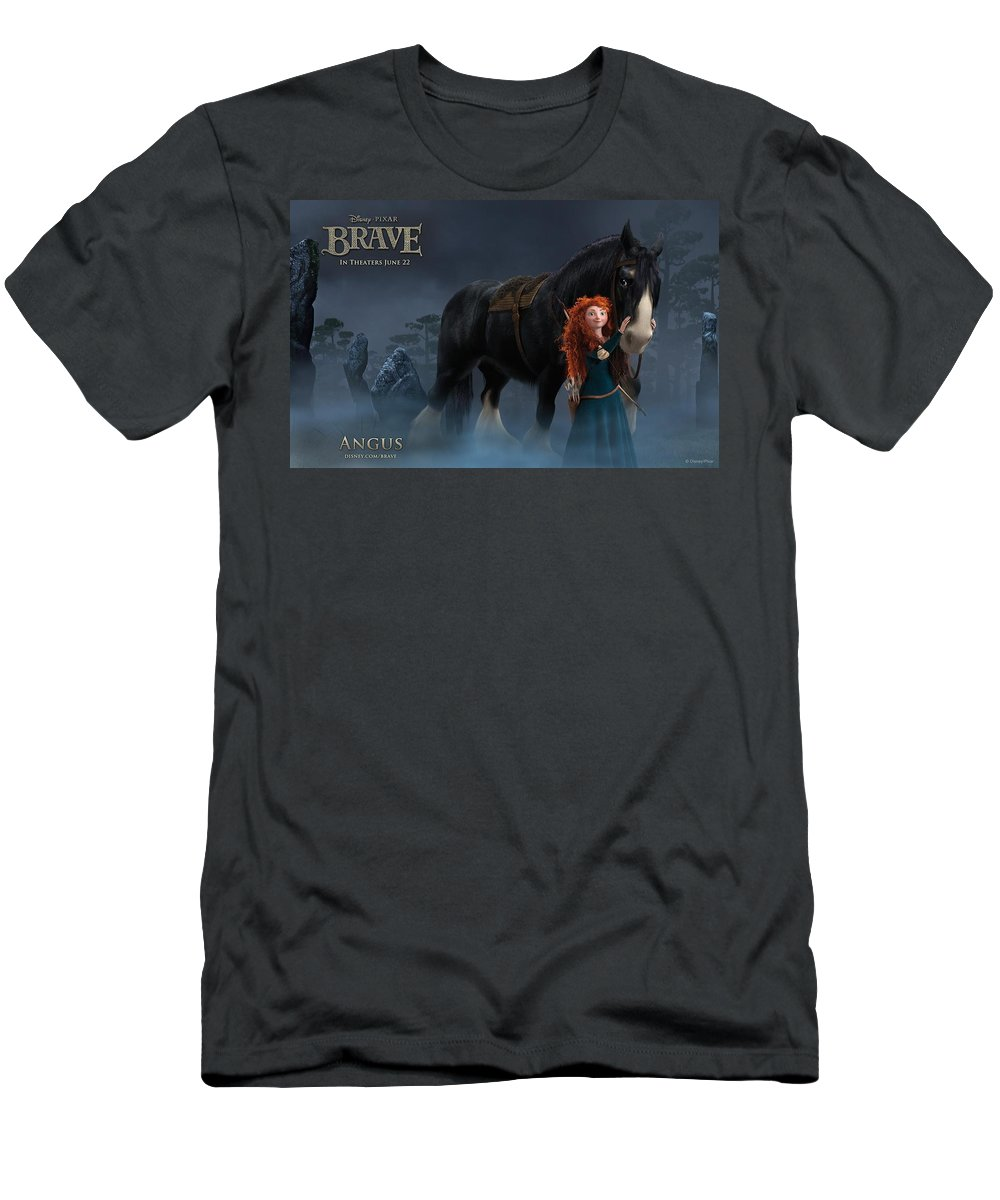 Brave Men's T-Shirt (Athletic Fit) featuring the digital art Brave by Dorothy Binder