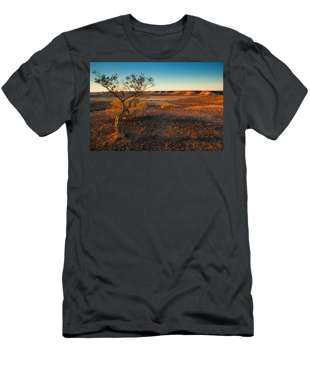 Breakways Men's T-Shirt (Athletic Fit) featuring the photograph Breakaway Dawn by Mike Dawson