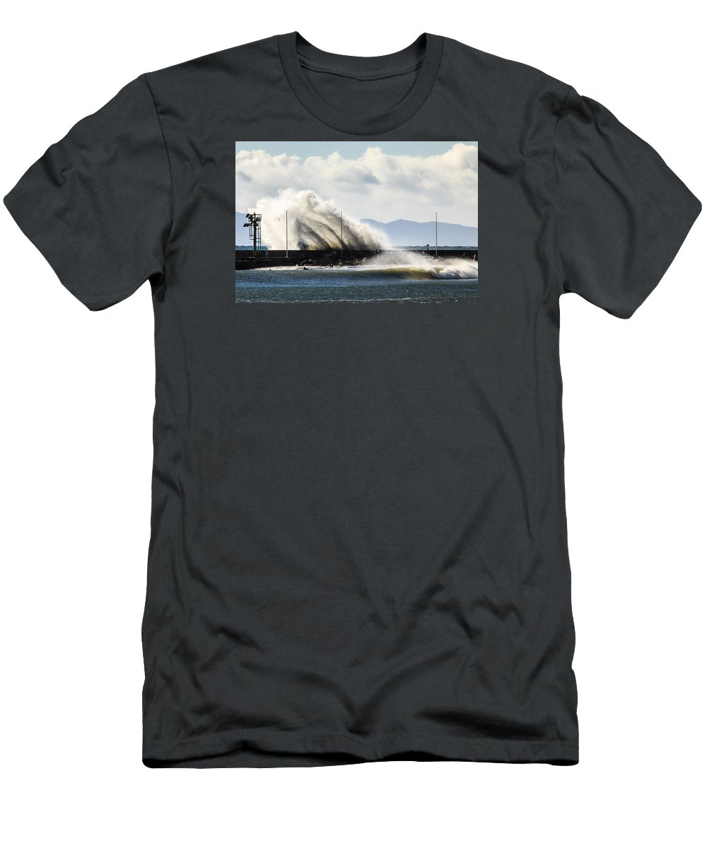 Jetty Men's T-Shirt (Athletic Fit) featuring the photograph Breakwater by Zach Brown