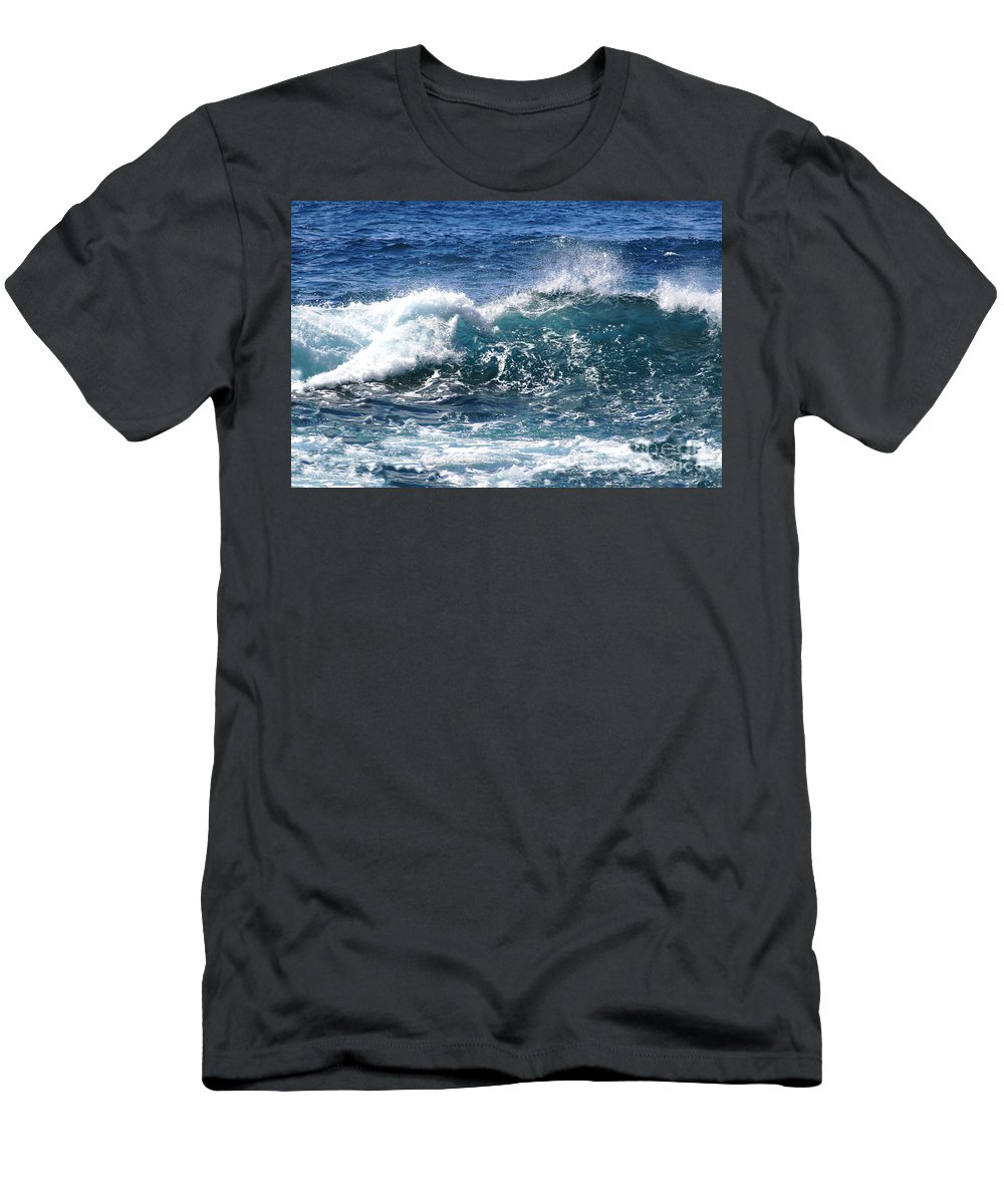 Aloha Men's T-Shirt (Athletic Fit) featuring the photograph Breathe Like Water Kashmir Blue Sapphire by Sharon Mau
