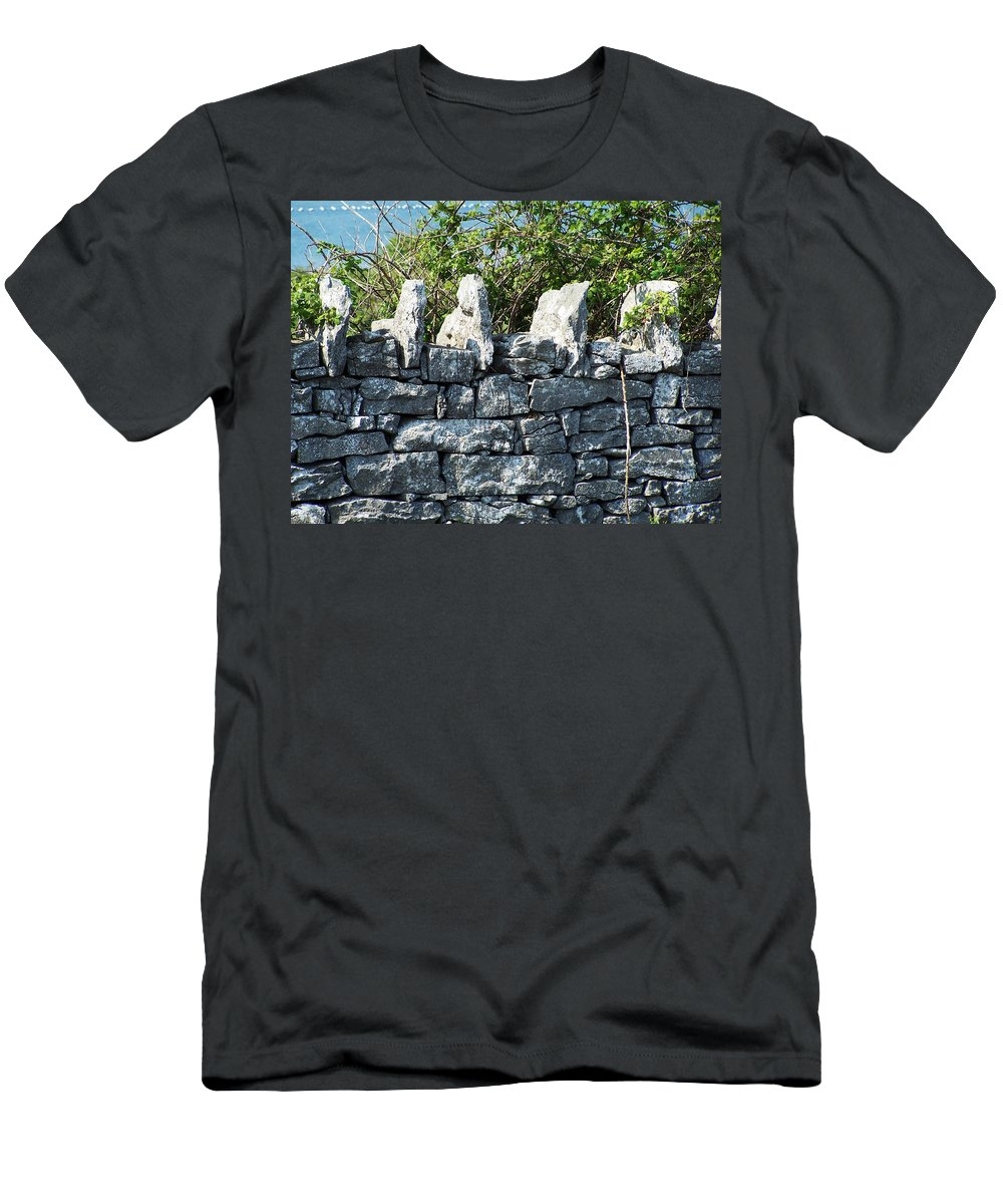 Irish Men's T-Shirt (Athletic Fit) featuring the photograph Briars And Stones New Quay Ireland County Clare by Teresa Mucha