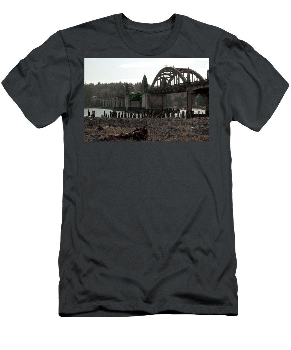 Art Deco Men's T-Shirt (Athletic Fit) featuring the photograph Bridge Deco by Sara Stevenson