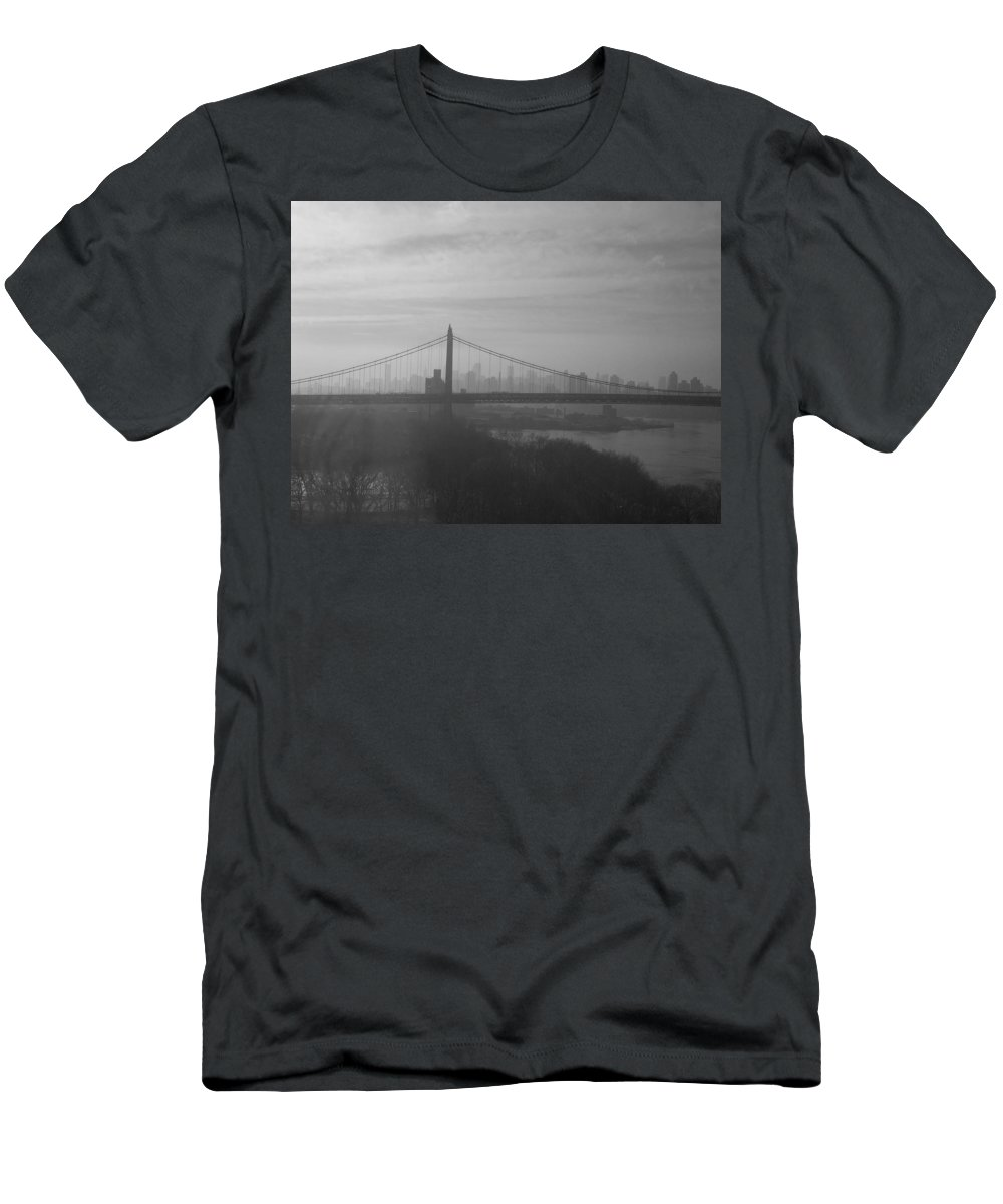 New York City Men's T-Shirt (Athletic Fit) featuring the photograph Bridge View by Paulette B Wright