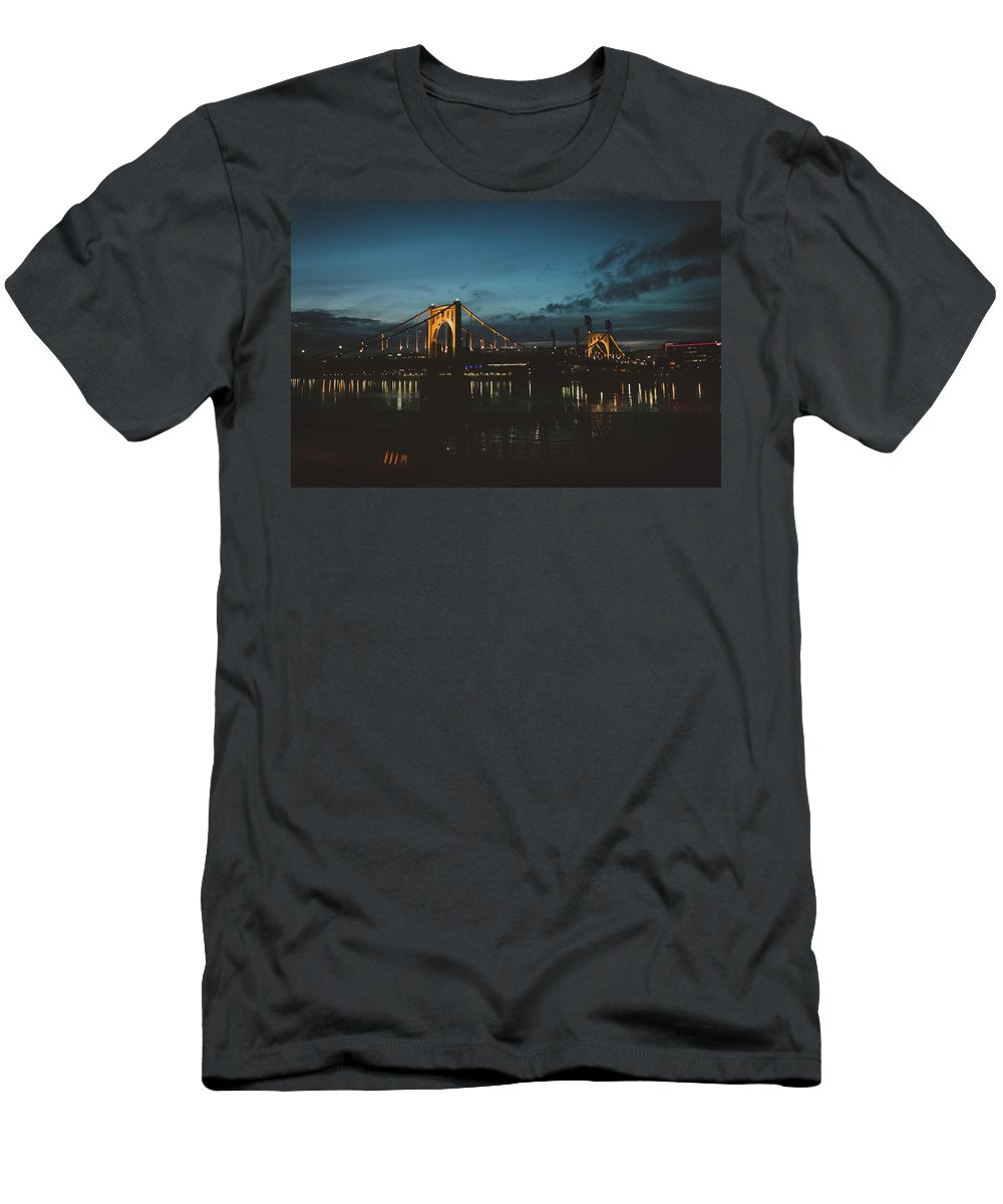 Photography Men's T-Shirt (Athletic Fit) featuring the photograph Bridges by Jessica Hamlyn