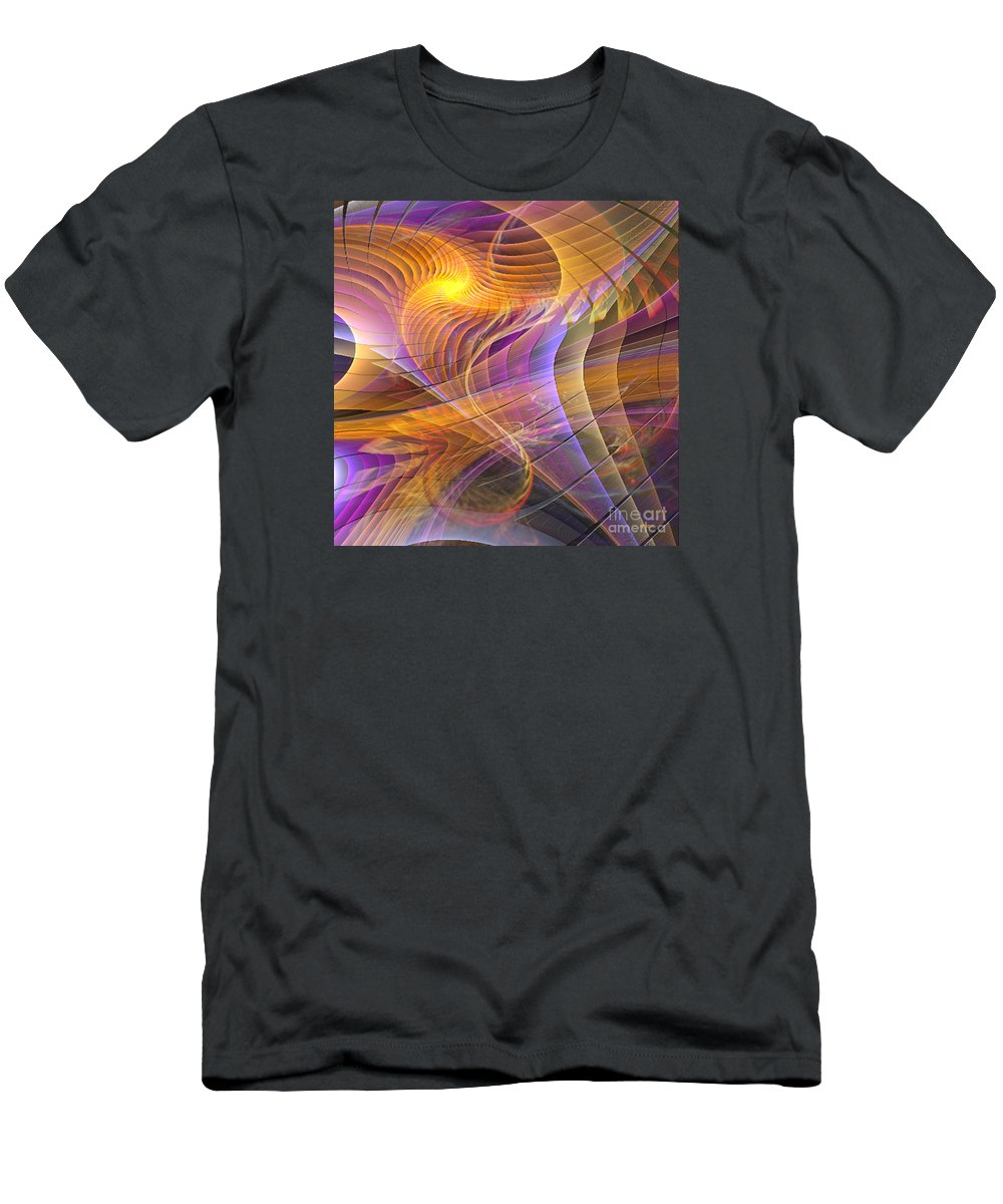 Bright Idea Men's T-Shirt (Athletic Fit) featuring the digital art Bright Idea - Square Version by John Beck