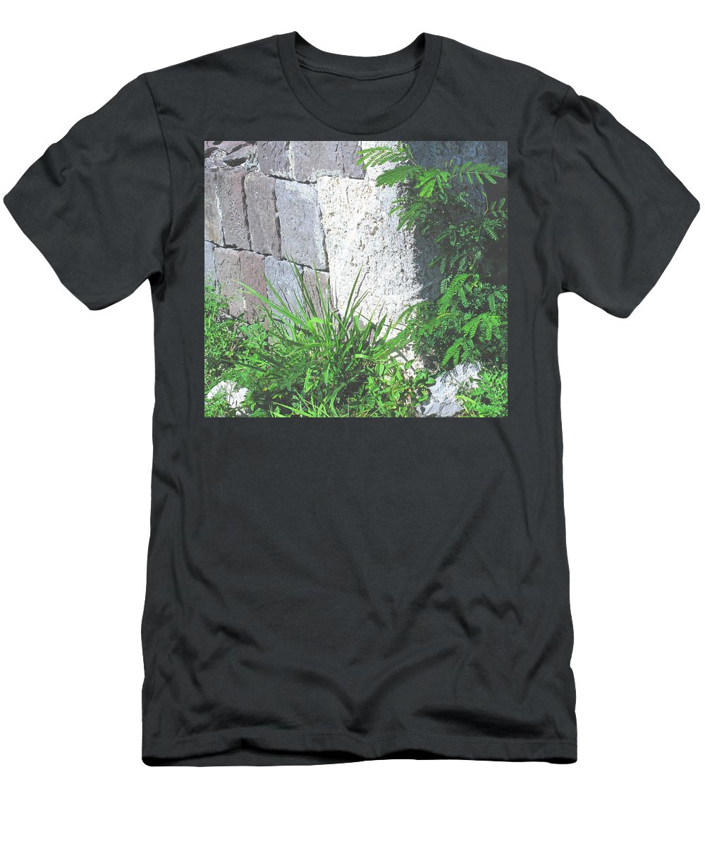 Brimstone Men's T-Shirt (Athletic Fit) featuring the photograph Brimstone Wall by Ian MacDonald
