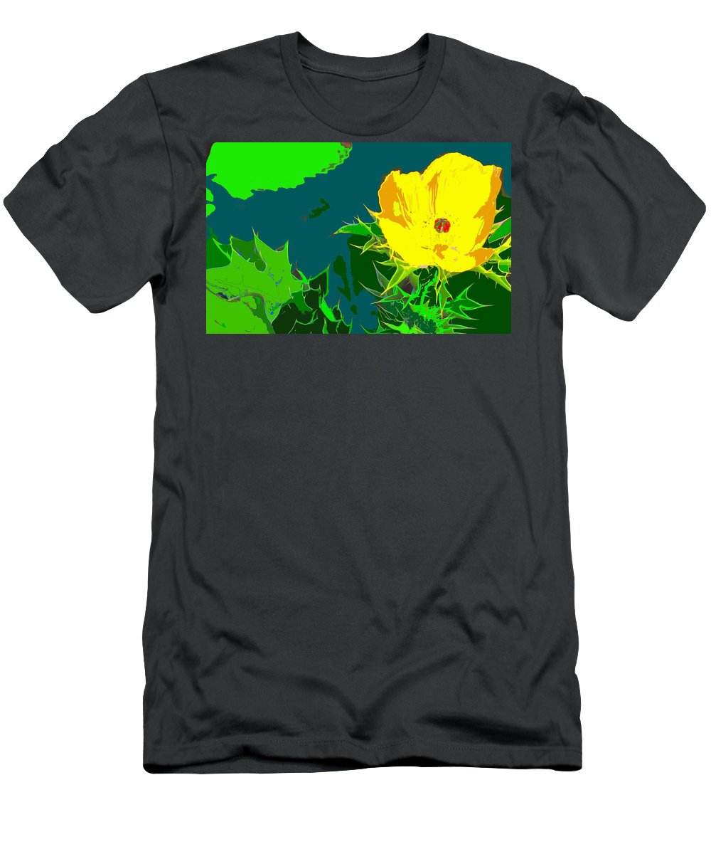 Men's T-Shirt (Athletic Fit) featuring the photograph Brimstone Yellow by Ian MacDonald