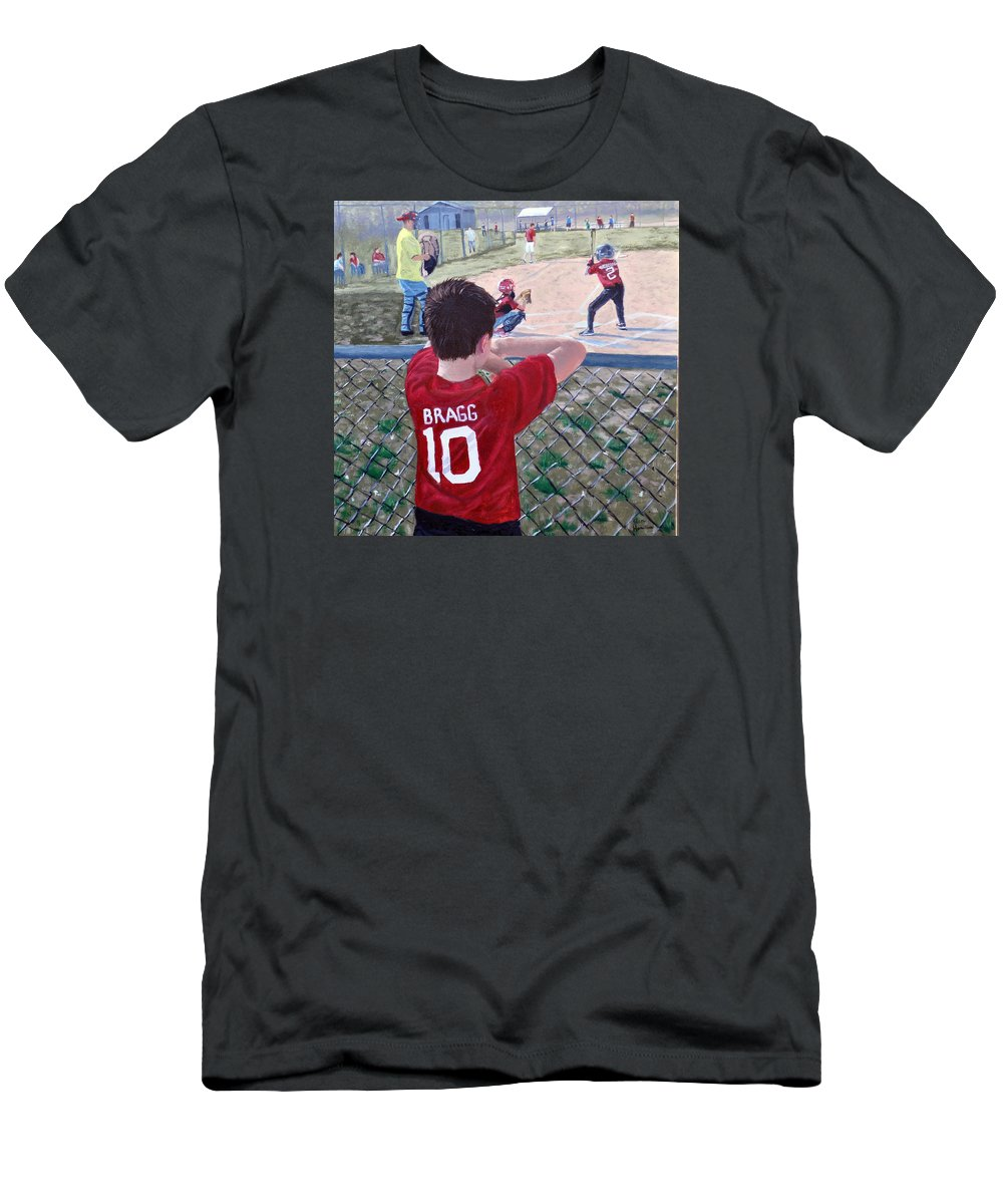 Child T-Shirt featuring the painting Brock by Stan Hamilton