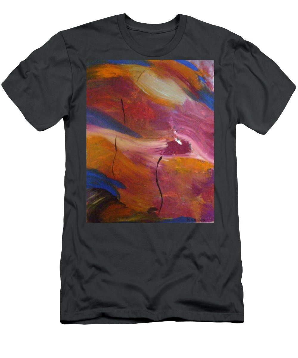 Abstract Art Men's T-Shirt (Athletic Fit) featuring the painting Broken Heart by Kelly Turner