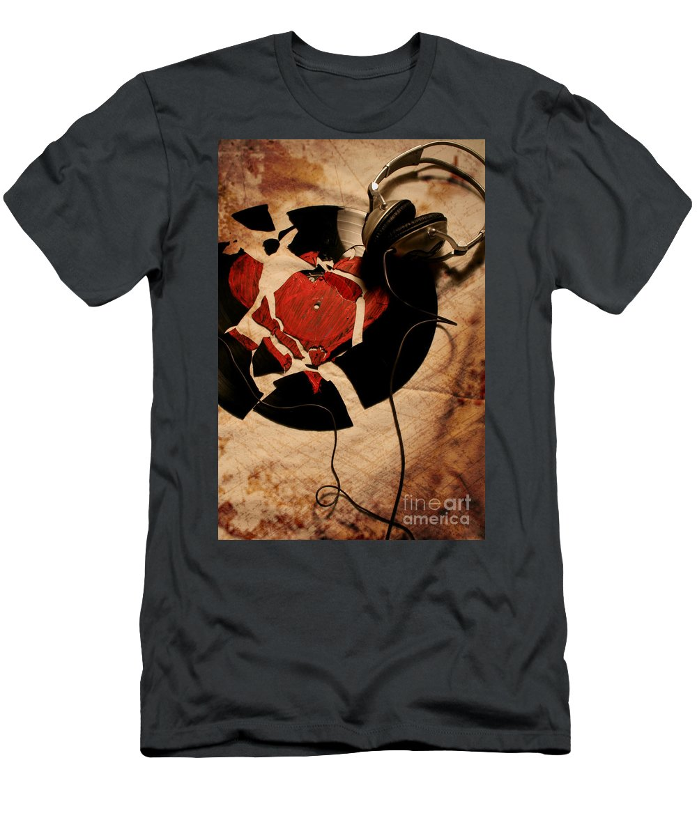 Music Men's T-Shirt (Athletic Fit) featuring the photograph Broken Promises by Jason Williams