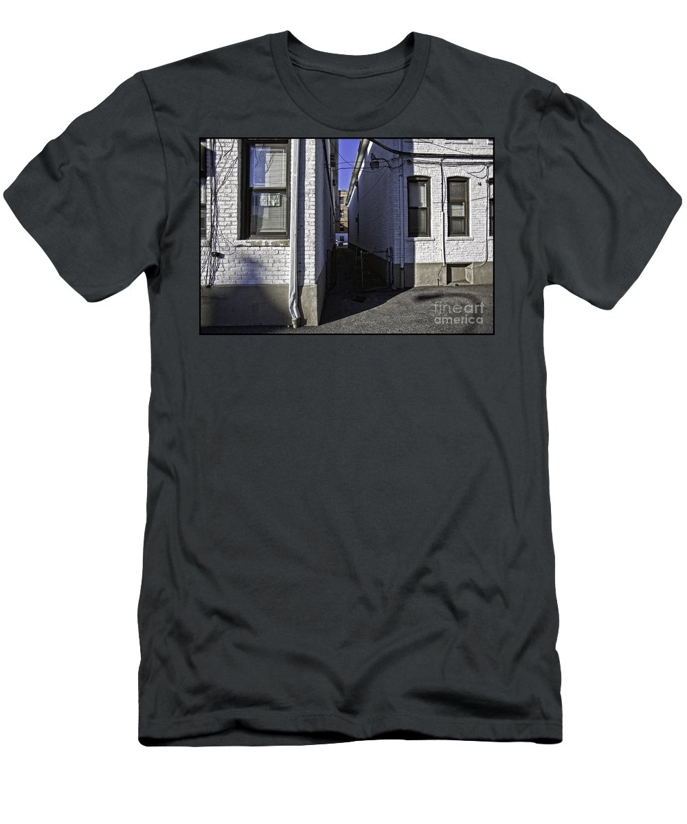 Alley Men's T-Shirt (Athletic Fit) featuring the photograph Brooklyn Alleyway by Madeline Ellis