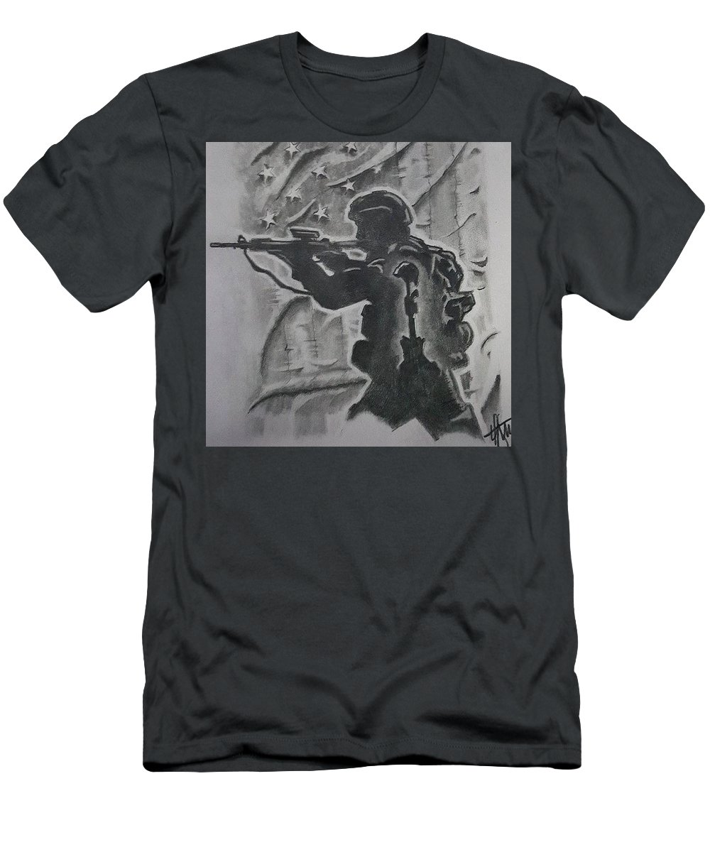 Soldier Men's T-Shirt (Athletic Fit) featuring the drawing Brothers Memory by Howard King