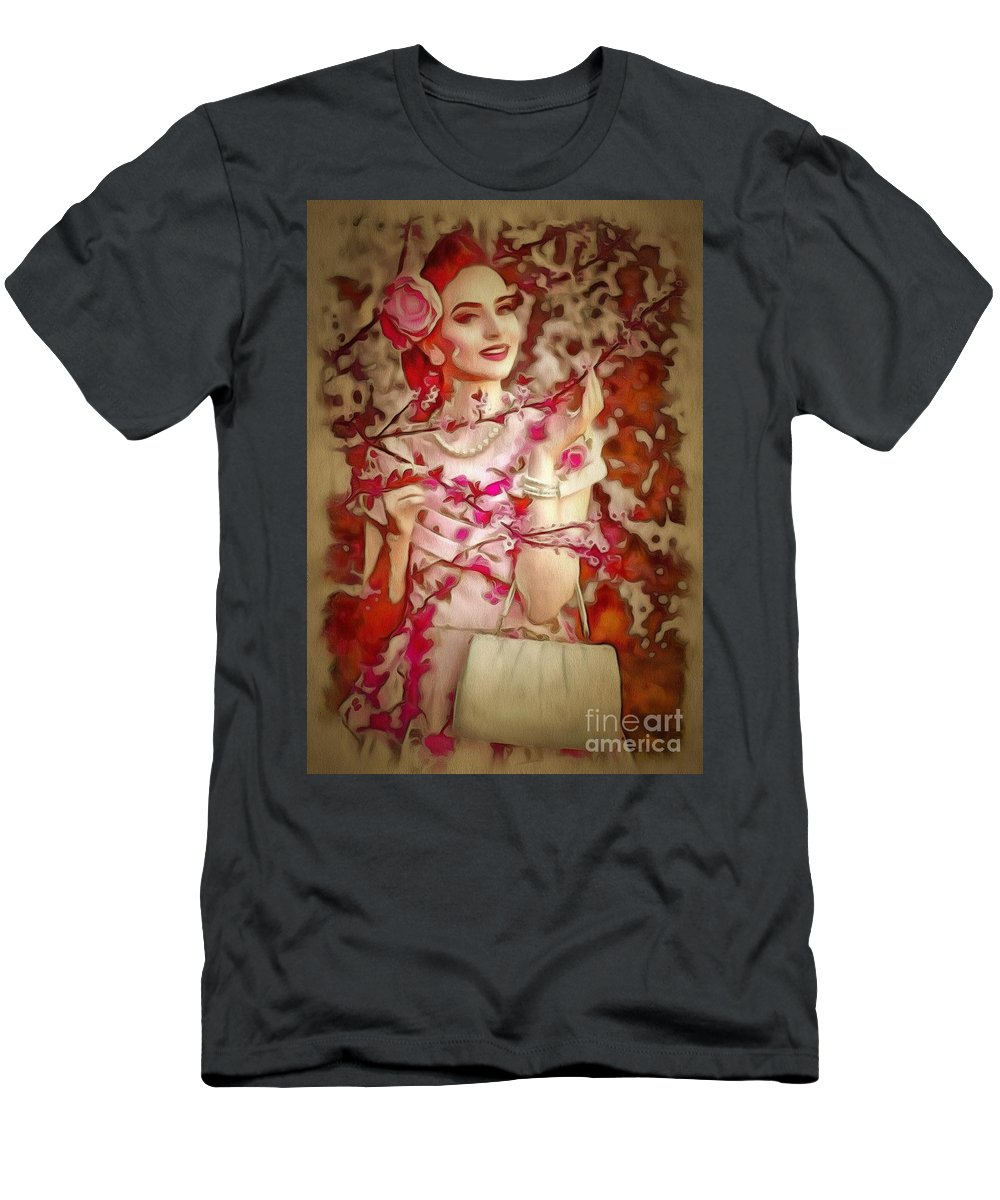 Brunch In Ambiance Men's T-Shirt (Athletic Fit) featuring the painting Brunch In Ambiance by Catherine Lott