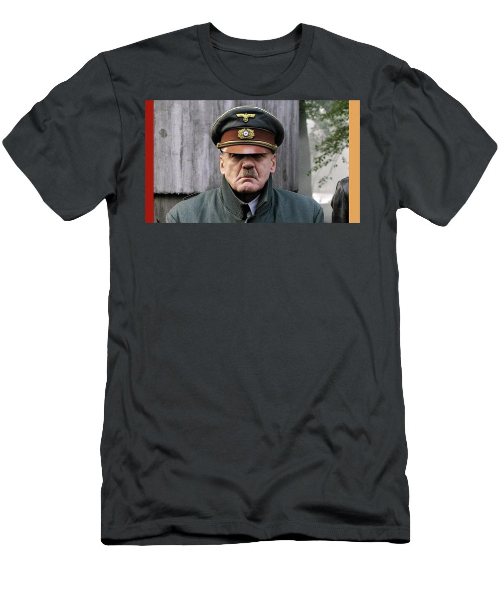 Bruno Ganz As Adolf Hitler Publicity Photo Number One Downfall 2004 Frame Added 2016 Men's T-Shirt (Athletic Fit) featuring the photograph Bruno Ganz As Adolf Hitler Publicity Photo Number One Downfall 2004 Frame Added 2016 by David Lee Guss