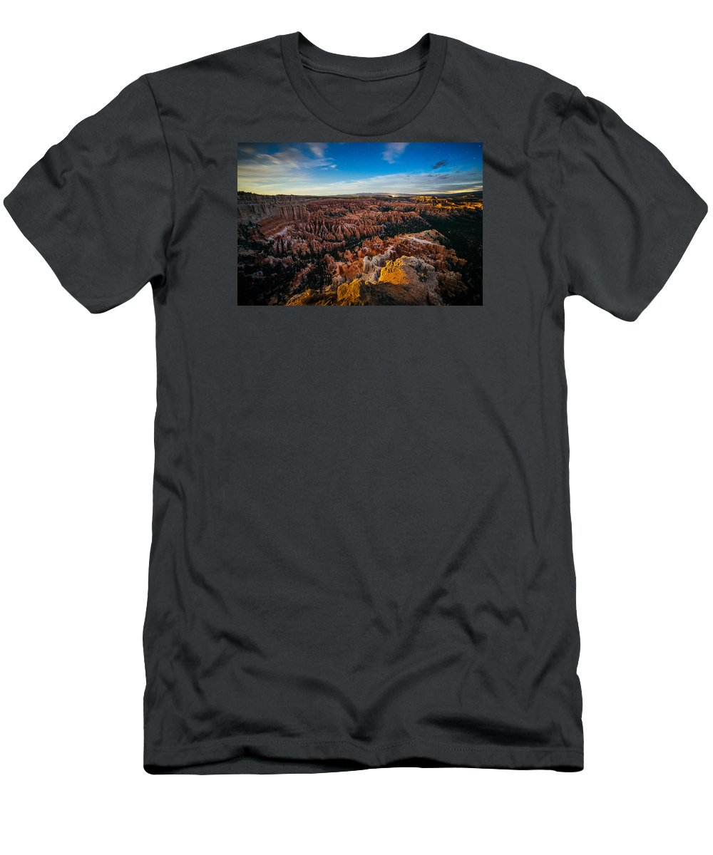 Bryce Canyon National Park Men's T-Shirt (Athletic Fit) featuring the photograph Bryce Before Dawn by Prashant Thumma