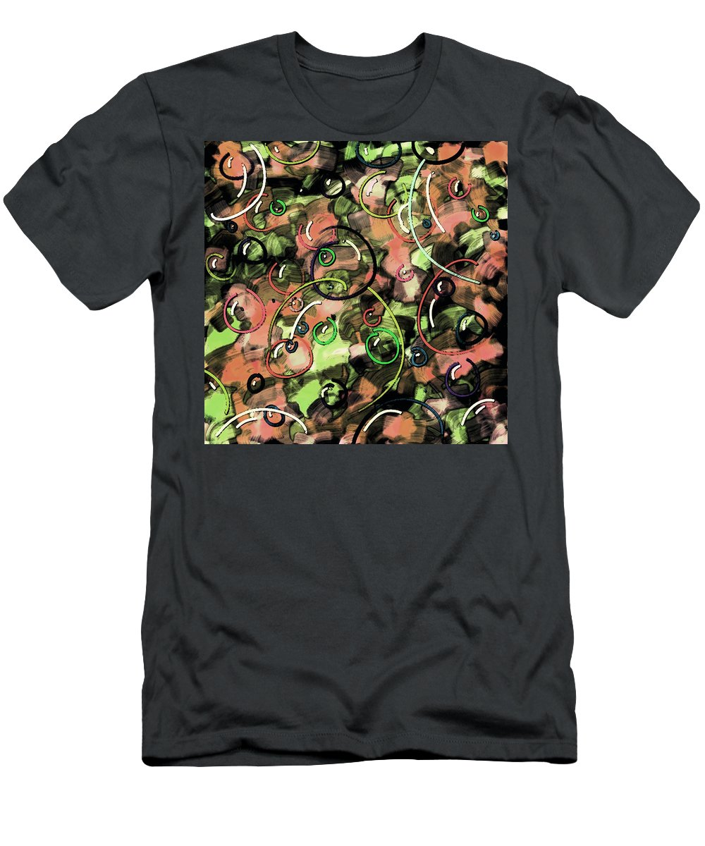 Abstract Men's T-Shirt (Athletic Fit) featuring the digital art Bubbles by Rachel Christine Nowicki