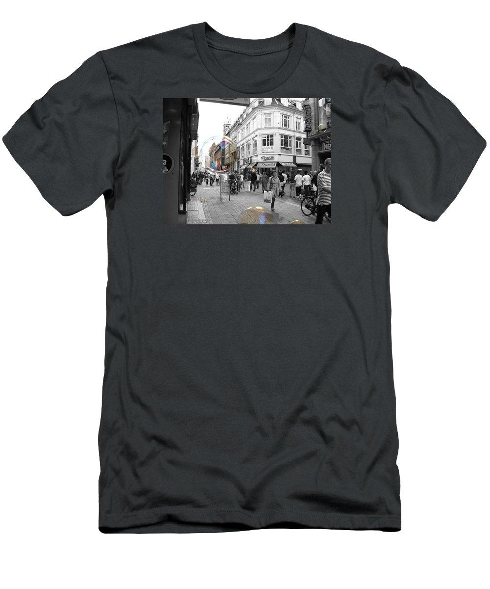 Photography Men's T-Shirt (Athletic Fit) featuring the photograph Bublbes. Copenhagen by Cristina Rettegi