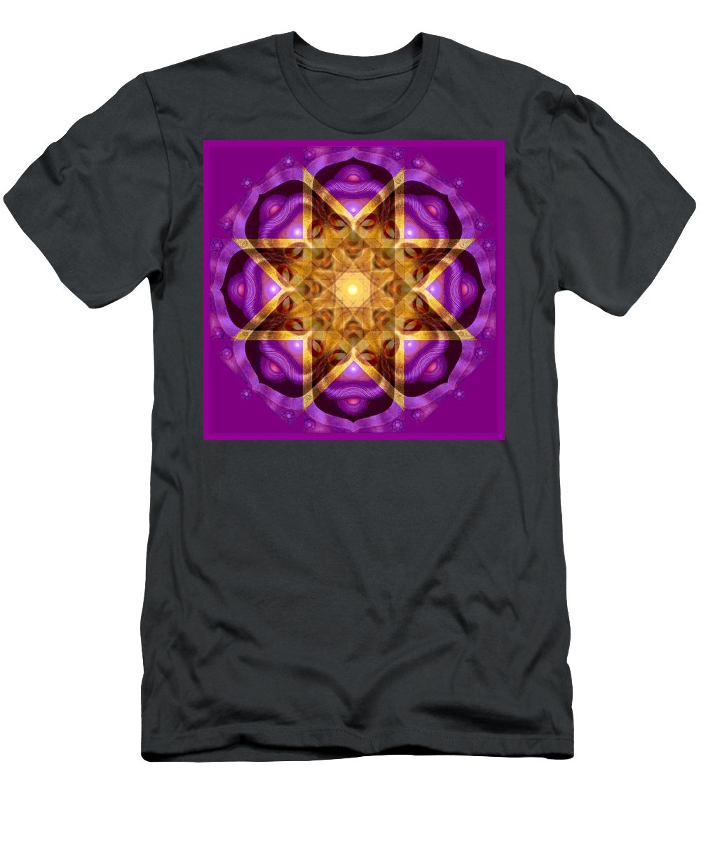 Buddha Men's T-Shirt (Athletic Fit) featuring the painting Buddha Mandala by Sue Halstenberg