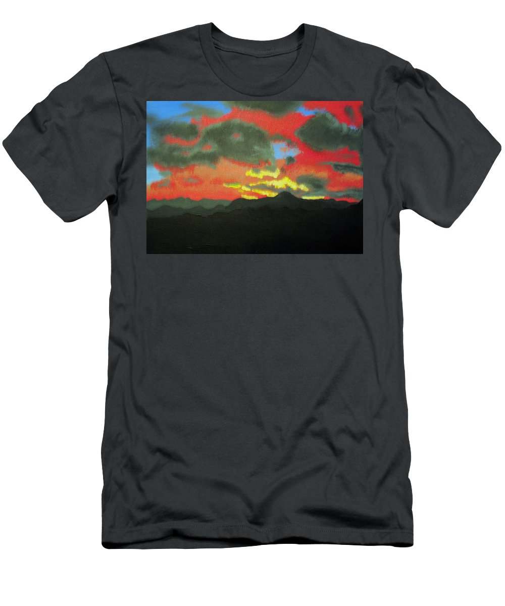 Sunset Men's T-Shirt (Athletic Fit) featuring the painting Buenas Noches by Marco Morales